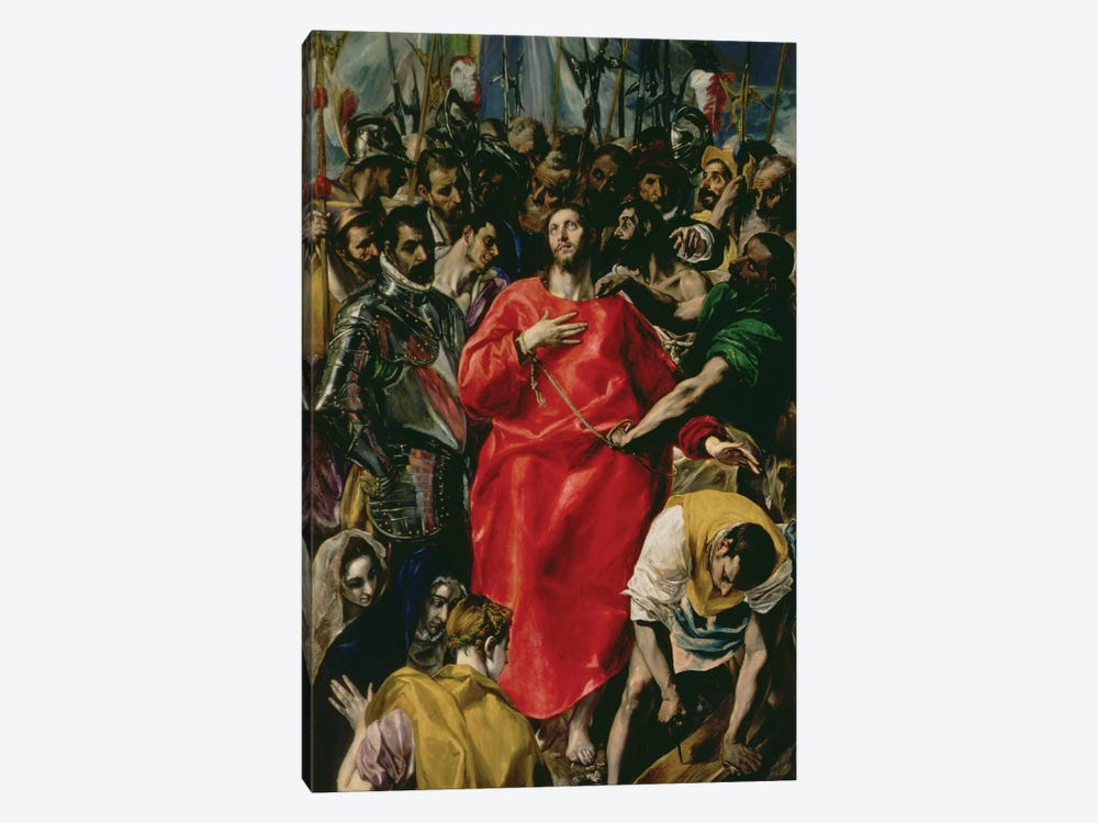 The Disrobing Of Christ, 1577-79 (Toledo Cathedral) by El Greco 1-piece Canvas Art Print