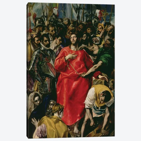 The Disrobing Of Christ, 1577-79 (Toledo Cathedral) Canvas Print #BMN6243} by El Greco Art Print