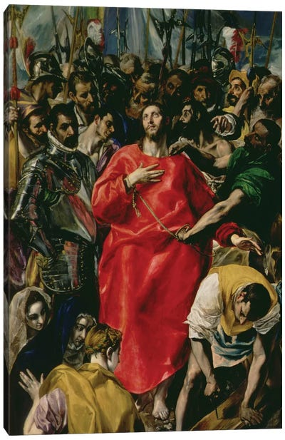 The Disrobing Of Christ, 1577-79 (Toledo Cathedral) Canvas Art Print
