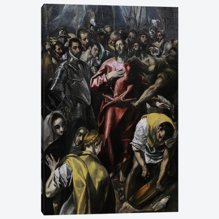 The Disrobing Of Christ, c.1606-08 (Alte Pinakothek) Canvas Print #BMN6244} by El Greco Canvas Wall Art