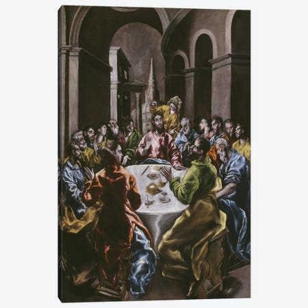 The Feast In The House Of Simon, 1608-14 Canvas Print #BMN6245} by El Greco Canvas Artwork