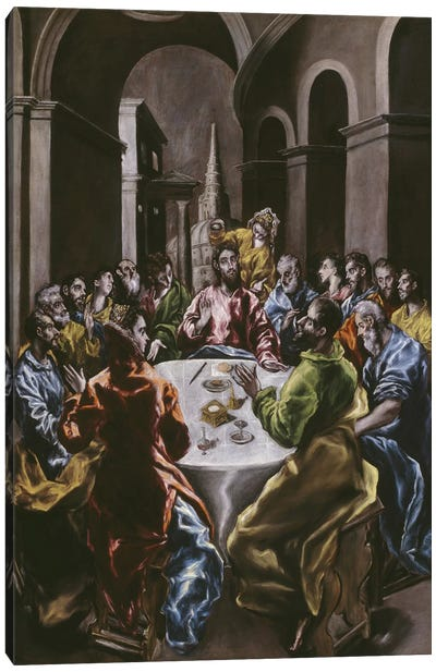 The Feast In The House Of Simon, 1608-14 Canvas Art Print