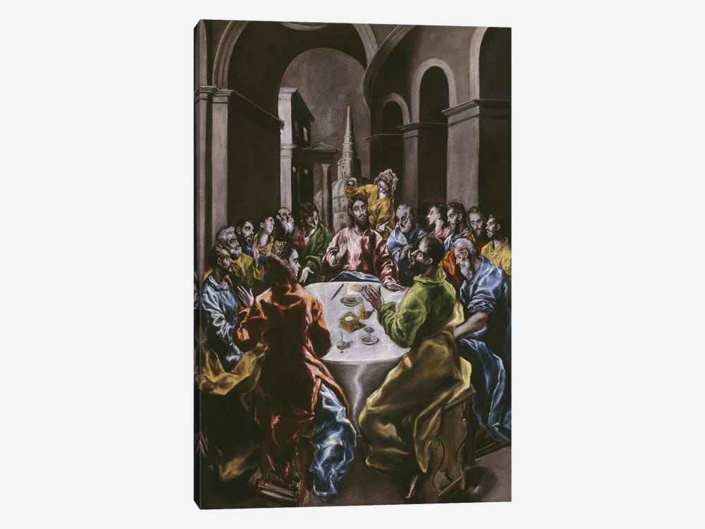 The Feast In The House Of Simon, 1608-14 by El Greco 1-piece Canvas Print
