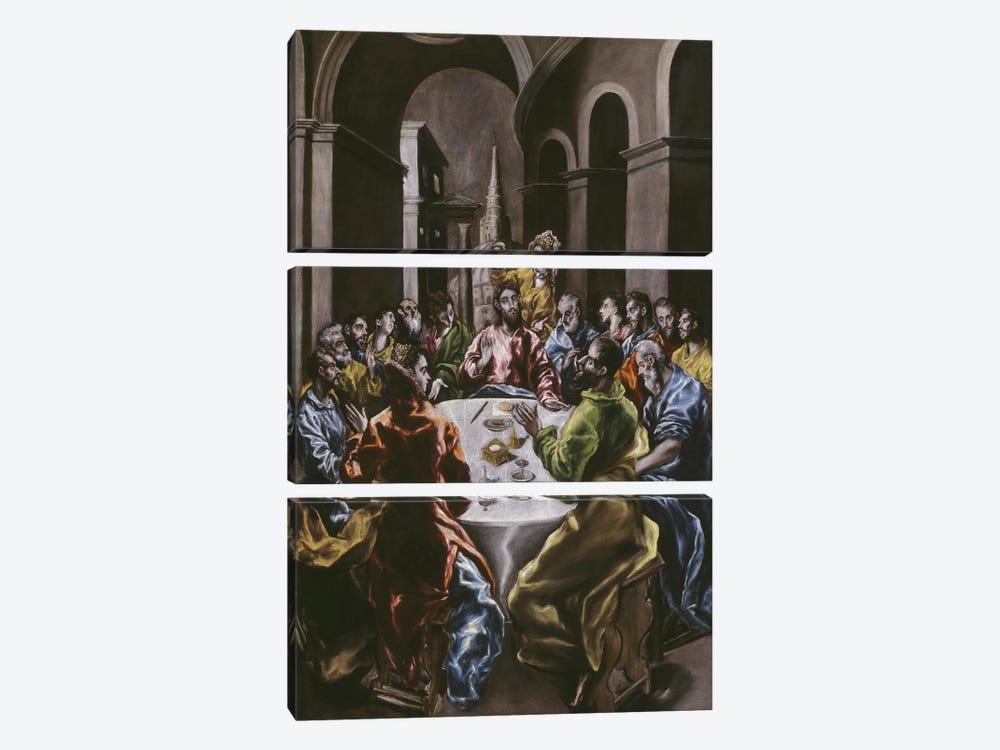 The Feast In The House Of Simon, 1608-14 by El Greco 3-piece Art Print
