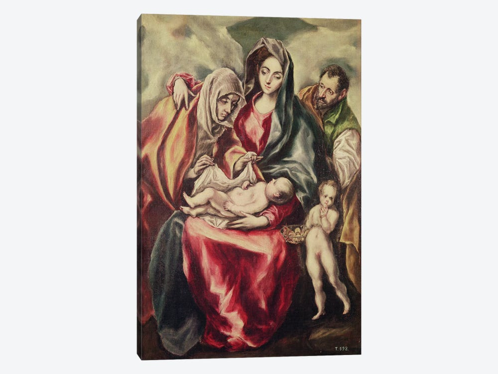The Holy Family (Museo del Prado) by El Greco 1-piece Canvas Art Print