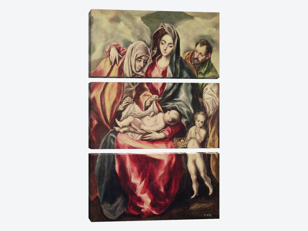 The Holy Family (Museo del Prado) by El Greco 3-piece Art Print
