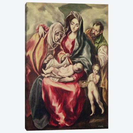 The Holy Family (Museo del Prado) Canvas Print #BMN6247} by El Greco Canvas Wall Art