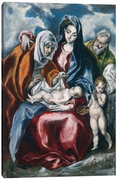 The Holy Family With Saint Anne And The Infant John The Baptist, c.1595-1600 (National Gallery Of Art - Washington, D.C.) Canvas Print #BMN6248