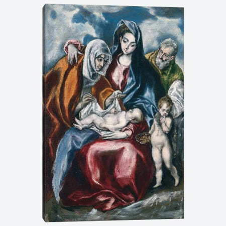 The Holy Family With Saint Anne And The Infant John The Baptist, c.1595-1600 (National Gallery Of Art - Washington, D.C.) Canvas Print #BMN6248} by El Greco Canvas Print