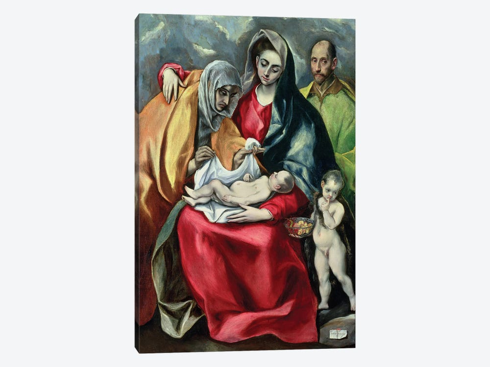 The Holy Family With St. Elizabeth (Museo de Santa Cruz) by El Greco 1-piece Art Print