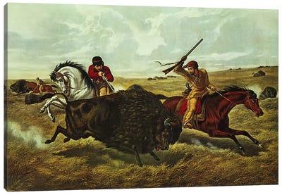 Life on the Prairie - the Buffalo Hunt, 1862  Canvas Art Print