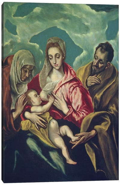 The Holy Family With St. Elizabeth (Museum Of Fine Arts - Budapest) Canvas Print #BMN6250