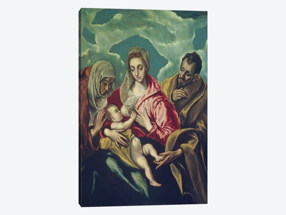The Holy Family With St. Elizabeth (Museum Of Fine Arts - Budapest) by El Greco 1-piece Art Print