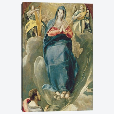 The Immaculate Conception Contemplated By St. John The Evangelist Canvas Print #BMN6251} by El Greco Canvas Art