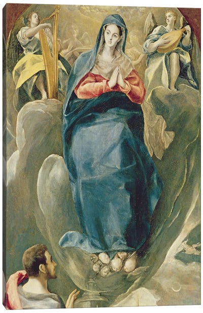 The Immaculate Conception Contemplated By St. John The Evangelist Canvas Print #BMN6251