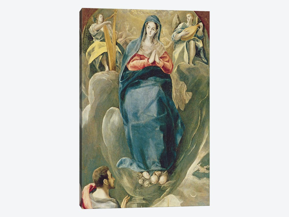 The Immaculate Conception Contemplated By St. John The Evangelist by El Greco 1-piece Canvas Wall Art