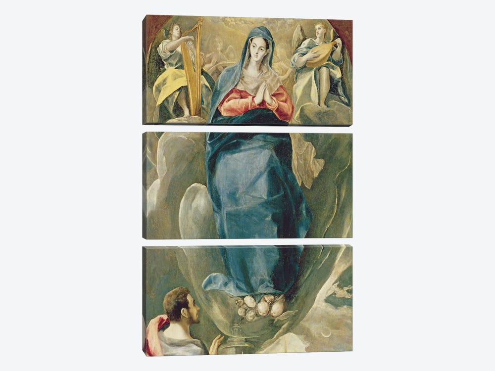 The Immaculate Conception Contemplated By St. John The Evangelist by El Greco 3-piece Canvas Artwork