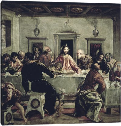 The Last Supper Canvas Print #BMN6252