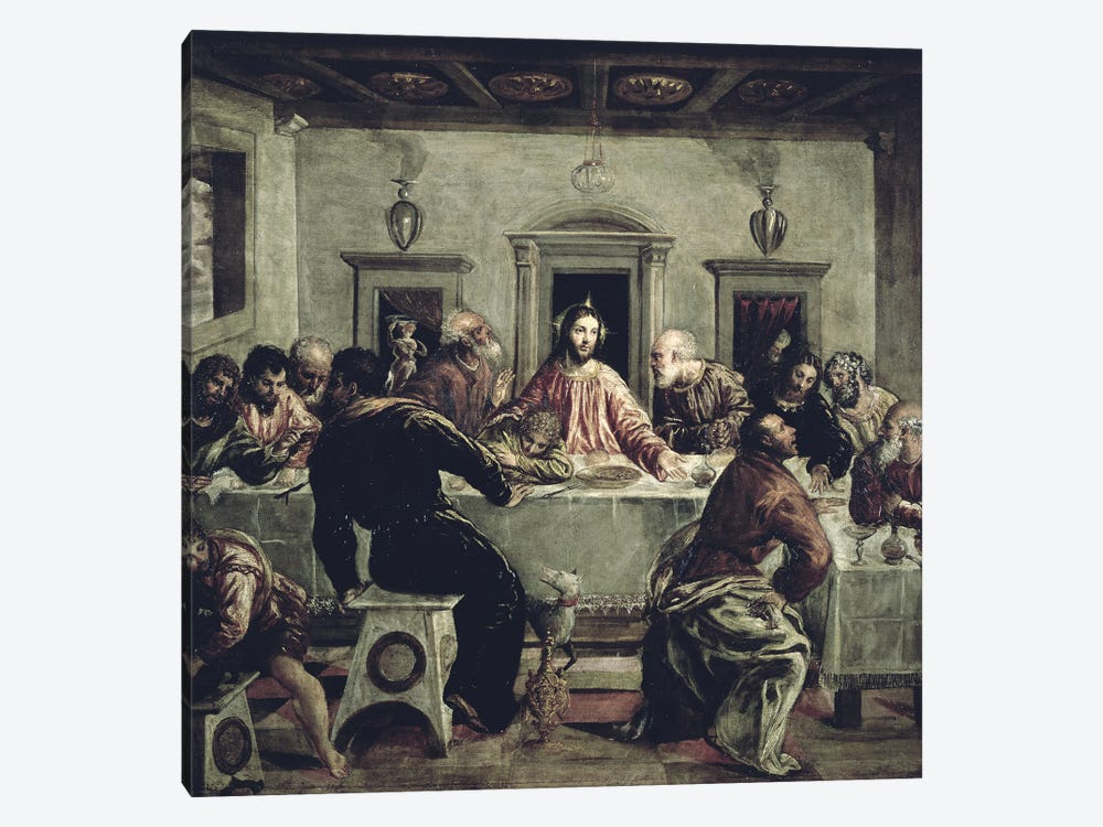 The Last Supper by El Greco 1-piece Canvas Art Print