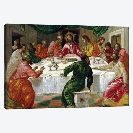 The Last Supper, 1567-70 Canvas Print #BMN6253} by El Greco Canvas Artwork