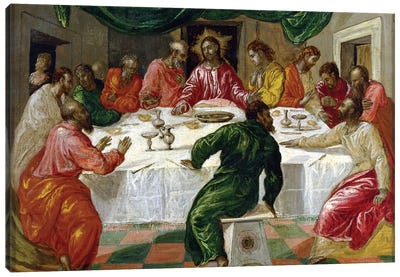 The Last Supper, 1567-70 Canvas Art Print