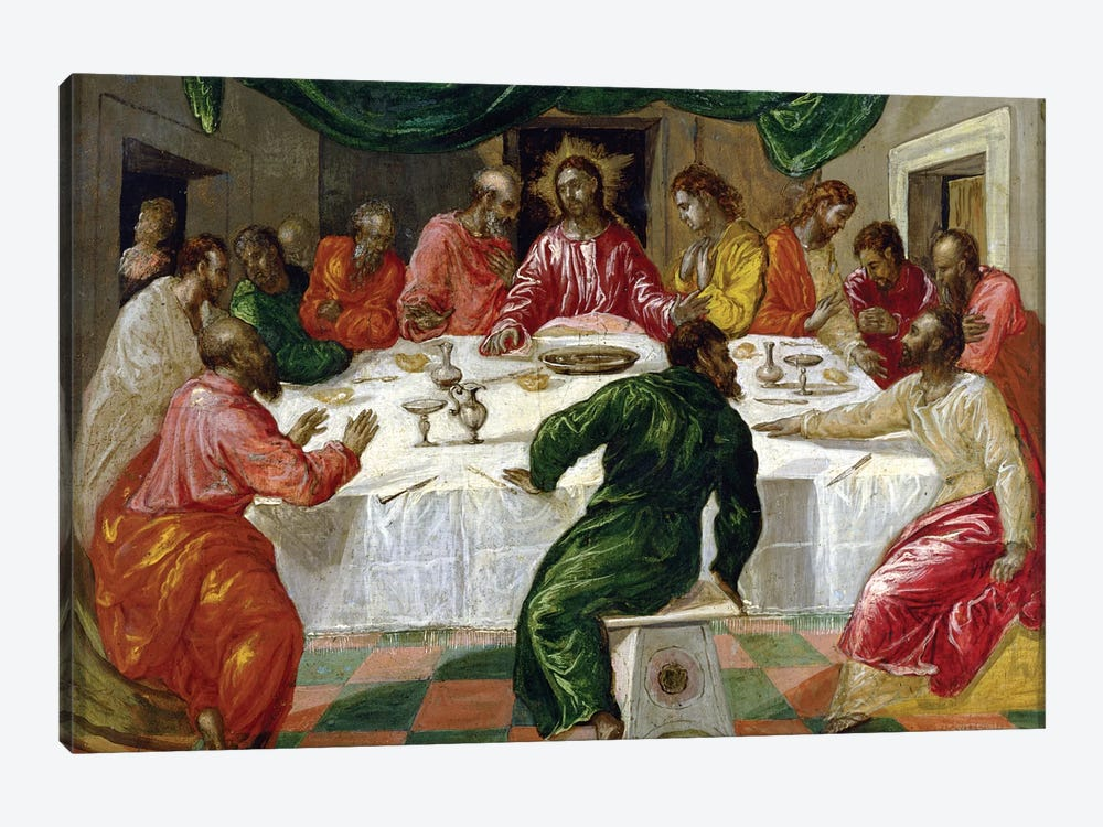 The Last Supper, 1567-70 1-piece Canvas Wall Art