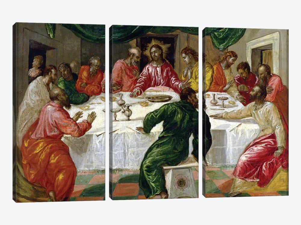 The Last Supper, 1567-70 3-piece Canvas Artwork
