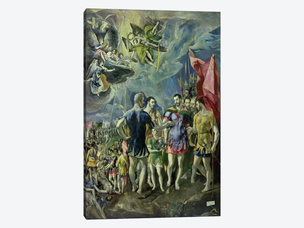 The Martyrdom Of St. Maurice, 1580-83 by El Greco 1-piece Canvas Art Print