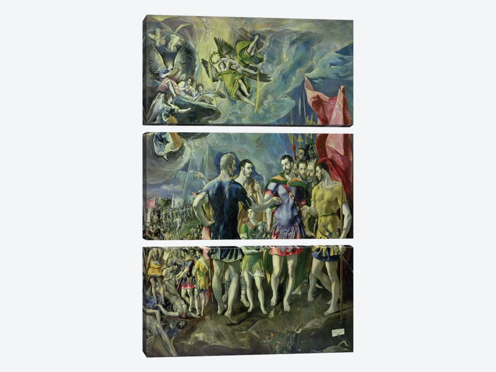 The Martyrdom Of St. Maurice, 1580-83 by El Greco 3-piece Canvas Art Print