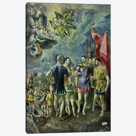 The Martyrdom Of St. Maurice, 1580-83 3-Piece Canvas #BMN6254} by El Greco Canvas Art Print