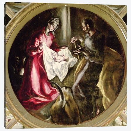 The Nativity, 1597-1603 Canvas Print #BMN6255} by El Greco Art Print