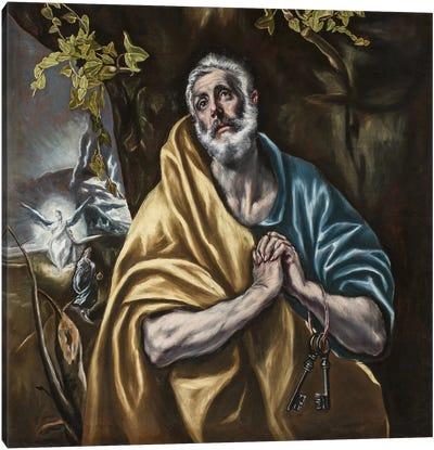 The Penitent Saint Peter, c.1590-95 (San Diego Museum Of Art) Canvas Print #BMN6256