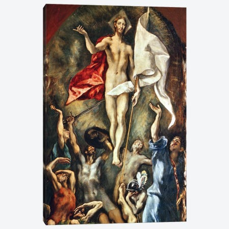 The Resurrection, 1584-94 Canvas Print #BMN6258} by El Greco Canvas Artwork