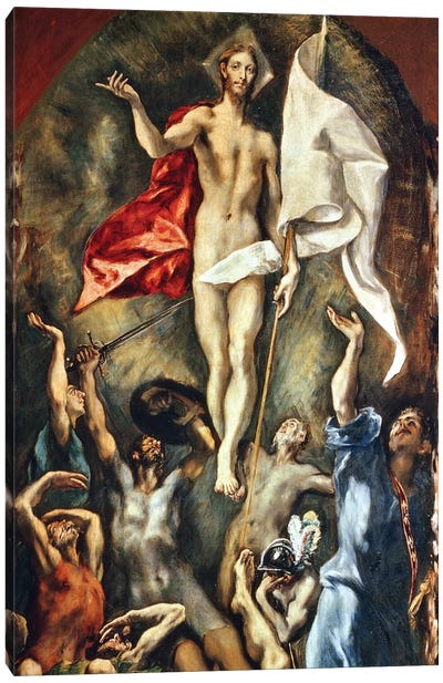 The Resurrection, 1584-94 Canvas Art Print