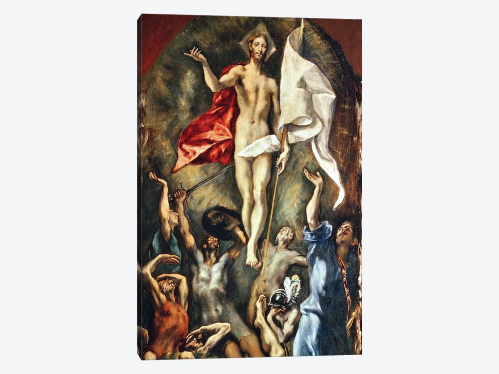 The Resurrection, 1584-94 by El Greco 1-piece Canvas Print