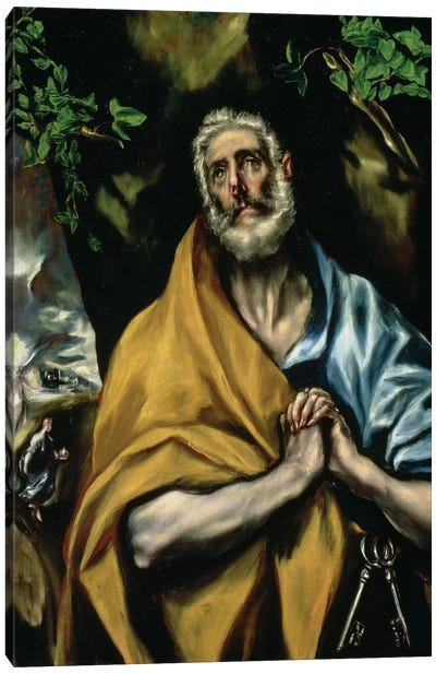 The Tears Of St. Peter, c.1605 (Hospital de Tavera) Canvas Art Print