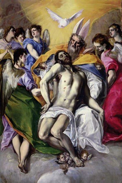 1577 Best Images About Nails Toe Nail Art On Pinterest: The Trinity, 1577-79 Canvas Art Print By El Greco