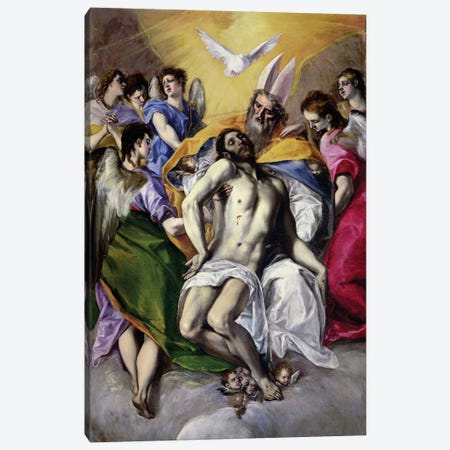 The Trinity, 1577-79 Canvas Print #BMN6261} by El Greco Art Print