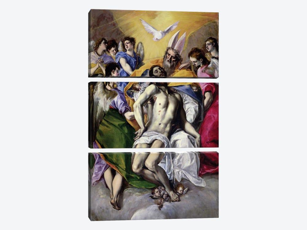 The Trinity, 1577-79 by El Greco 3-piece Art Print