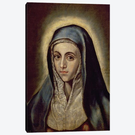 The Virgin Mary, c.1594-1604 (Museo del Prado) Canvas Print #BMN6262} by El Greco Canvas Print