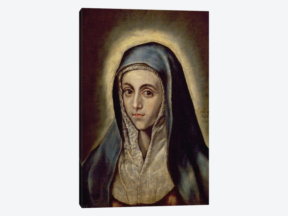 The Virgin Mary, c.1594-1604 (Museo del Prado) by El Greco 1-piece Canvas Artwork