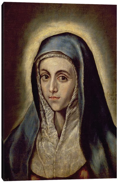 The Virgin Mary, c.1594-1604 (Museo del Prado) Canvas Art Print
