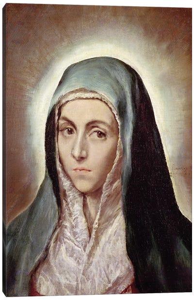 The Virgin Mary, c.1595-1600 (Musee des Beaux-Arts de Strasbourg) Canvas Art Print