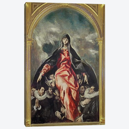 The Virgin Of Charity, 1603-05 Canvas Print #BMN6265} by El Greco Canvas Wall Art