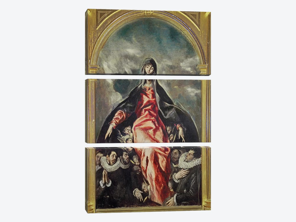 The Virgin Of Charity, 1603-05 by El Greco 3-piece Canvas Print