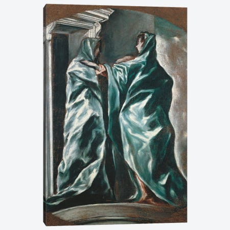 The Visitation, 1607-1614 Canvas Print #BMN6266} by El Greco Canvas Art