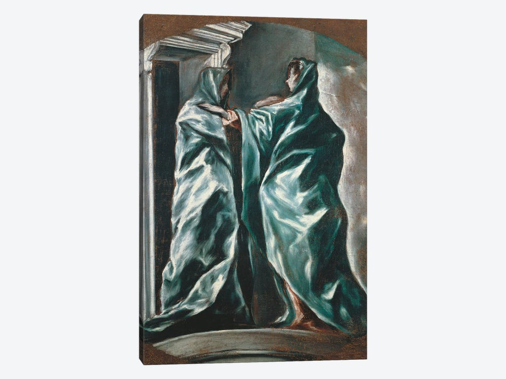 The Visitation, 1607-1614 by El Greco 1-piece Canvas Art