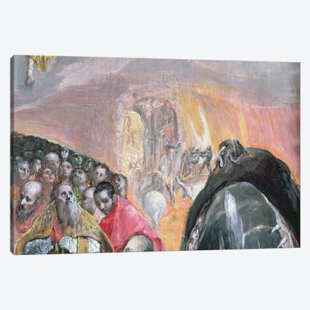The Walk To Purgatory Detail, The Adoration Of The Name Of Jesus, c.1578 Canvas Print #BMN6267} by El Greco Canvas Art