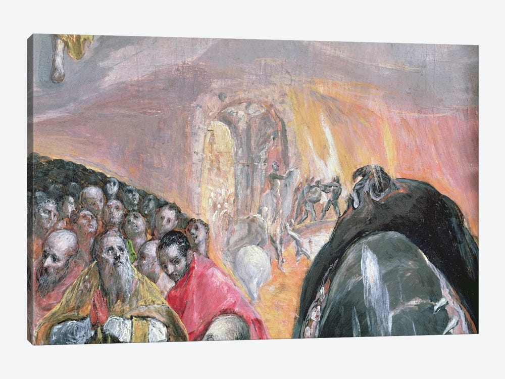 The Walk To Purgatory Detail, The Adoration Of The Name Of Jesus, c.1578 by El Greco 1-piece Art Print