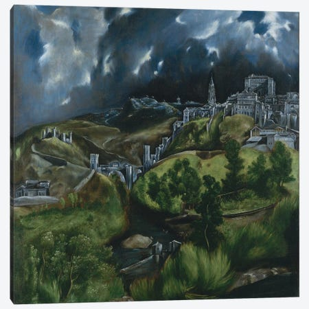 View Of Toledo, c.1597-99 Canvas Print #BMN6271} by El Greco Canvas Wall Art